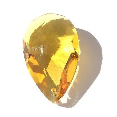 Czech Preciosa Crystal Teardrop Light Honey Orange 1 Loose Bead