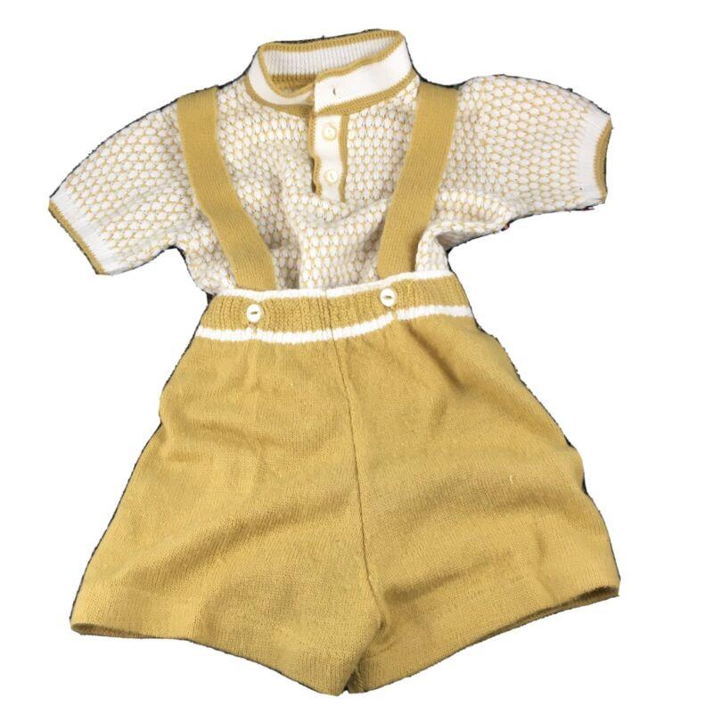 Knit Suspender Toddler 4t Boys Shorts Vintage Olive Green
