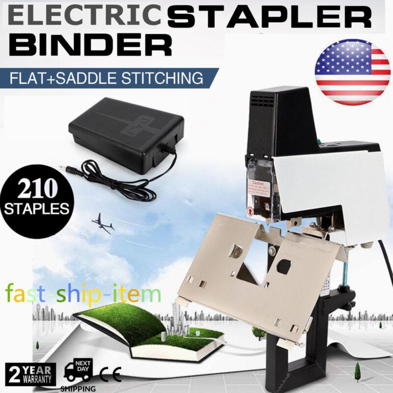 Electric Auto Stapler Flat +Saddle Binder Machine 2-50 sheets Foot Pedal 110V US