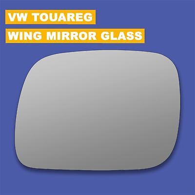 For Volkswagen Touareg 07-10 Left side Aspheric wing mirror glass with plate