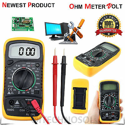 Digital LCD Multimeter Voltmeter Ammeter AC DC OHM Circuit Checker Tester Buzzer