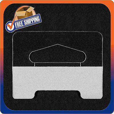40 Clear Self Adhesive Heavy Duty Slot Hang Tab Tags 19 Oz Limit Retail Hangers