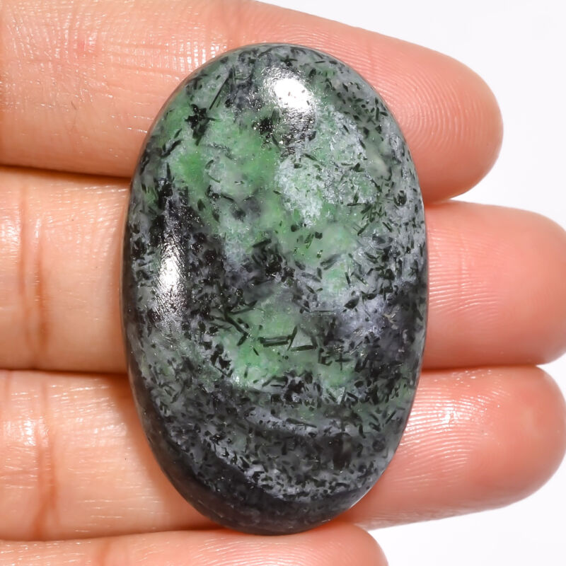 AAA+ Natural Ruby Zoisite Oval Cabochon Loose Gemstone 57.5 Ct 39X24X8mm EE20336