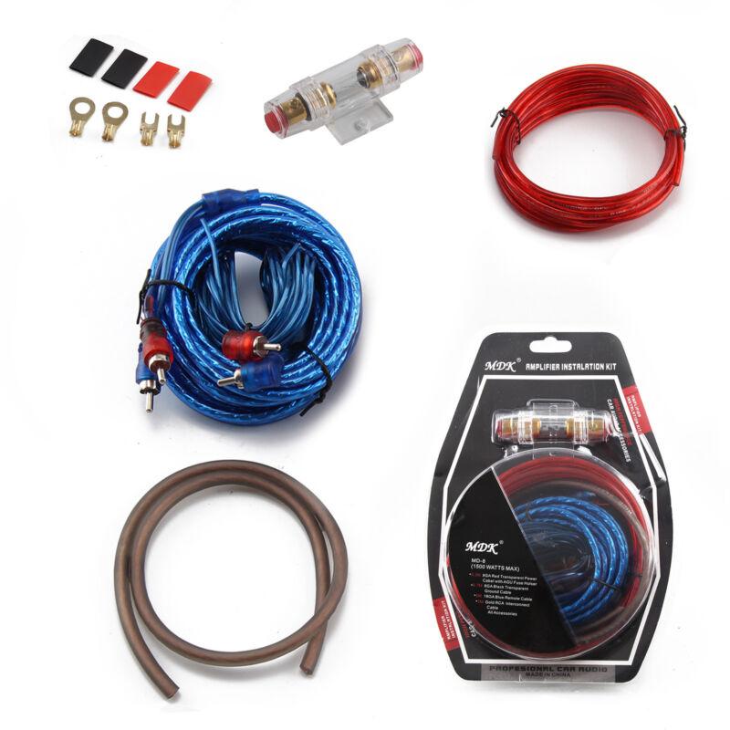 AWG 8 Verstärker 10mm² Endstufen-Subwoofer-Set Kabel