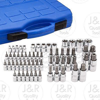 Master Torx Socket Set   60pc Tamper Proof Security Bits Plus External Star Set