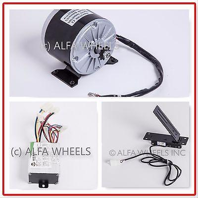 350 W 24 V Gokart Electric Motor 1016 Kit Speed Controller Foot Pedal Throttle