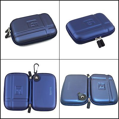 TOP QUALITY Gps Hard Case Carry Travel Bag 5 Inch for Garmin Tomtom Magella Blue ()
