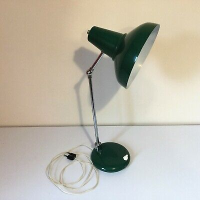 Très jolie lampe de bureau en métal vert anglais