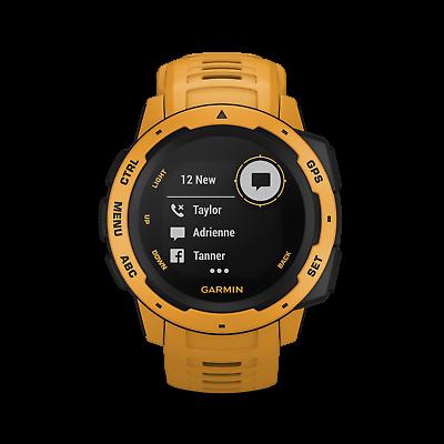 GARMIN Outdoor Smartwatch Instinct schiefergrau - gelb 010-02064-03