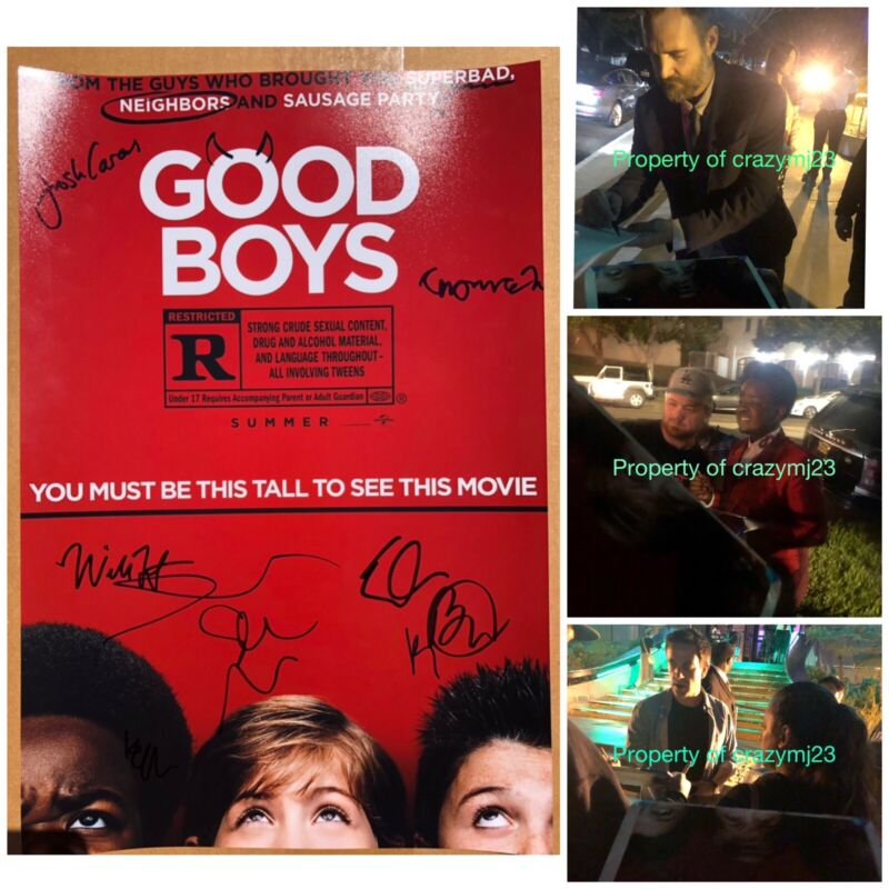 9 Signed Good Boys Cast Seth Rogen Brady Noon Will Forte Keith Autograph Proof