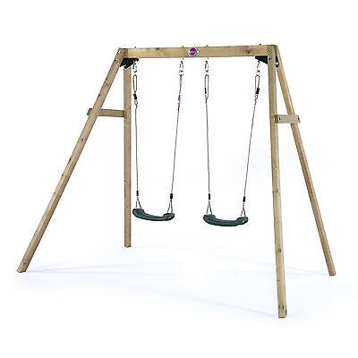 Plum® Wooden Double Swing Set
