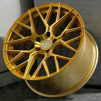 18x9 +30 AODHAN LS009 Wheels 5x120 Gold 18 Inch Rims Set 4  5 X 120 Wheels