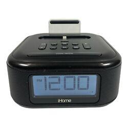 iHome FM Stereo FM Alarm Clock Radio, Lightning Dock Charge, Black, iPhone iPod