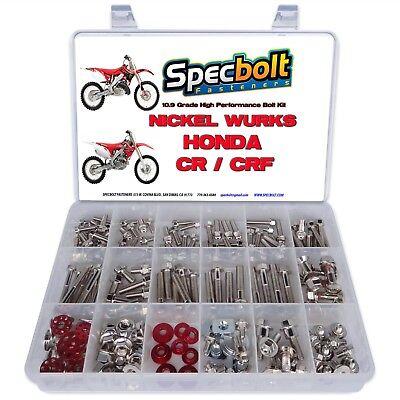 Honda CR Nickel Wurks Bolt Kit CR80 CR85 CR125 CR250 CR500 titanium look