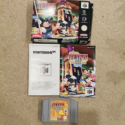 MAGICAL TETRIS CHALLENGE NINTENDO 64 BOXED COMPLETE & INSTRUCTIONS N64 FREE POST
