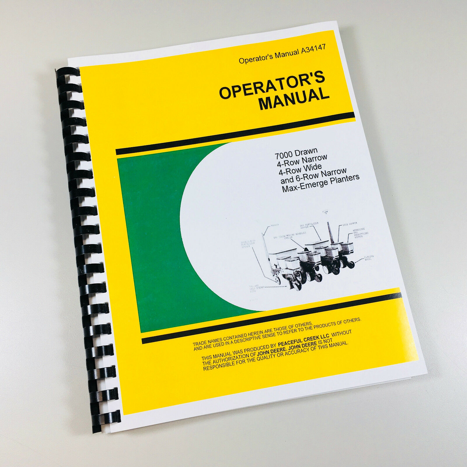 John deere planter operators manual 7000 drawn, 6-row wide, 8.