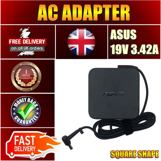 For ASUS X44H-VX240D New Genuine Laptop Notebook Charger 65W AC Adapter UK