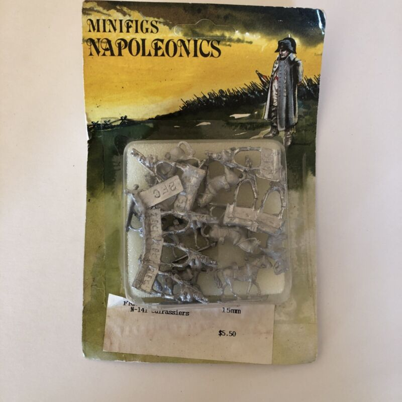 Minifigs Napoleonics 15mm France N-141 Cuirrasiers. Pre-owned In Package.