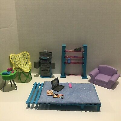 Lot Of Vintage Barbie Doll House Bedroom Furniture