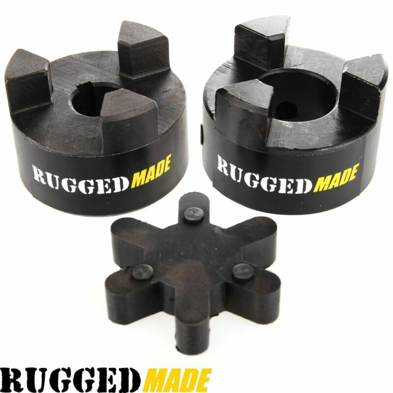 "7/8"" x 1/2"" Shaft Flexible Jaw Coupler & Rubber Spider L075 Lovejoy Coupling Set"
