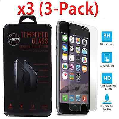 3-Pack Premium Real Tempered Glass Screen Protector for Apple iPhone 7