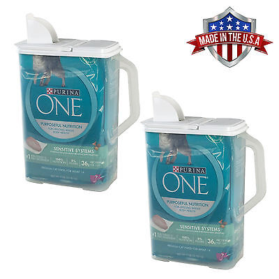Store Food Storage - 2 Pack Food Storage Container 8 Qt Keeper Pour n' Store with Handle