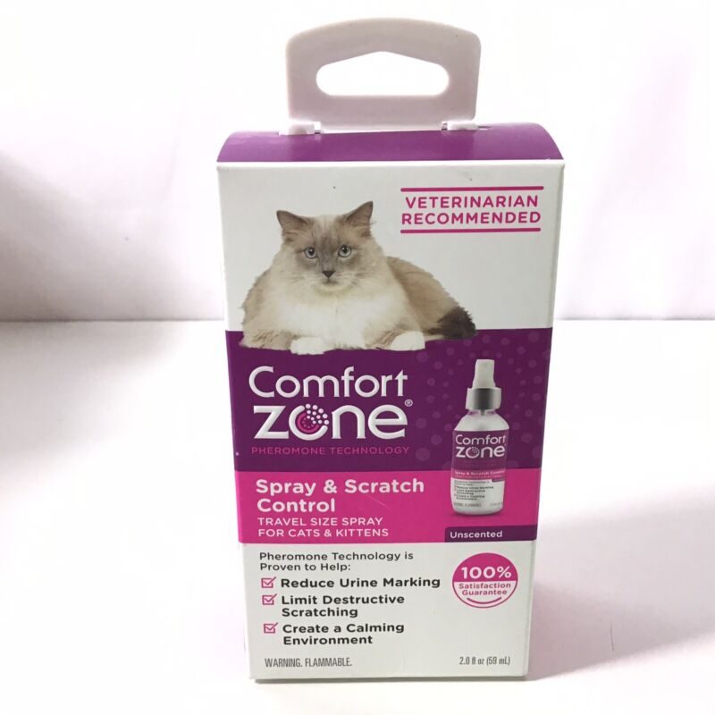 Comfort Zone Spray and Scratch Control Calming Spray for Cats 2oz.  8A11