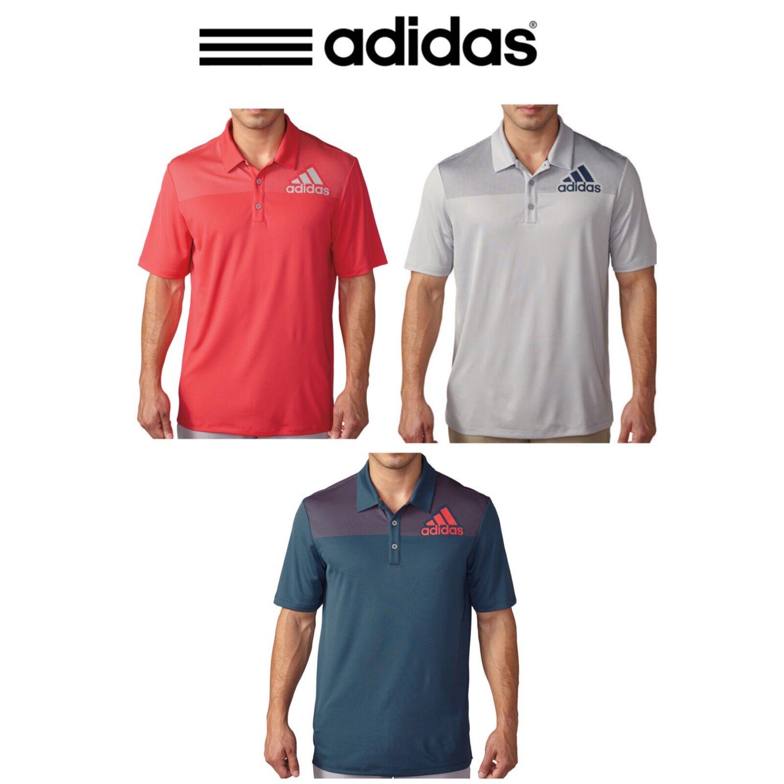 Adidas Big Logo Dot Print Mens Golf Polo Shirt Ebay