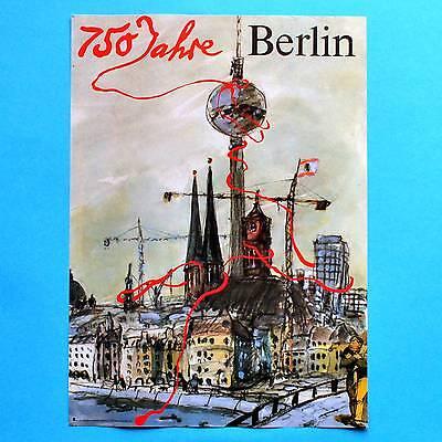DDR Plakat Poster 322 | 750 Jahre Berlin 1987 | 40 x 29 cm Original online kaufen