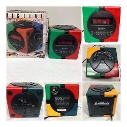 Vintage 1980's GPX Gran Prix Model D530 Digital Alarm Clock/Radio AM FM Phone
