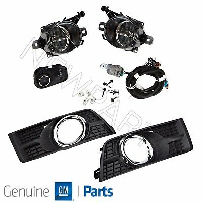 For Cadillac SRX 10-16 Left & Right Complete Fog Lamp Light Kit Genuine GM OEM