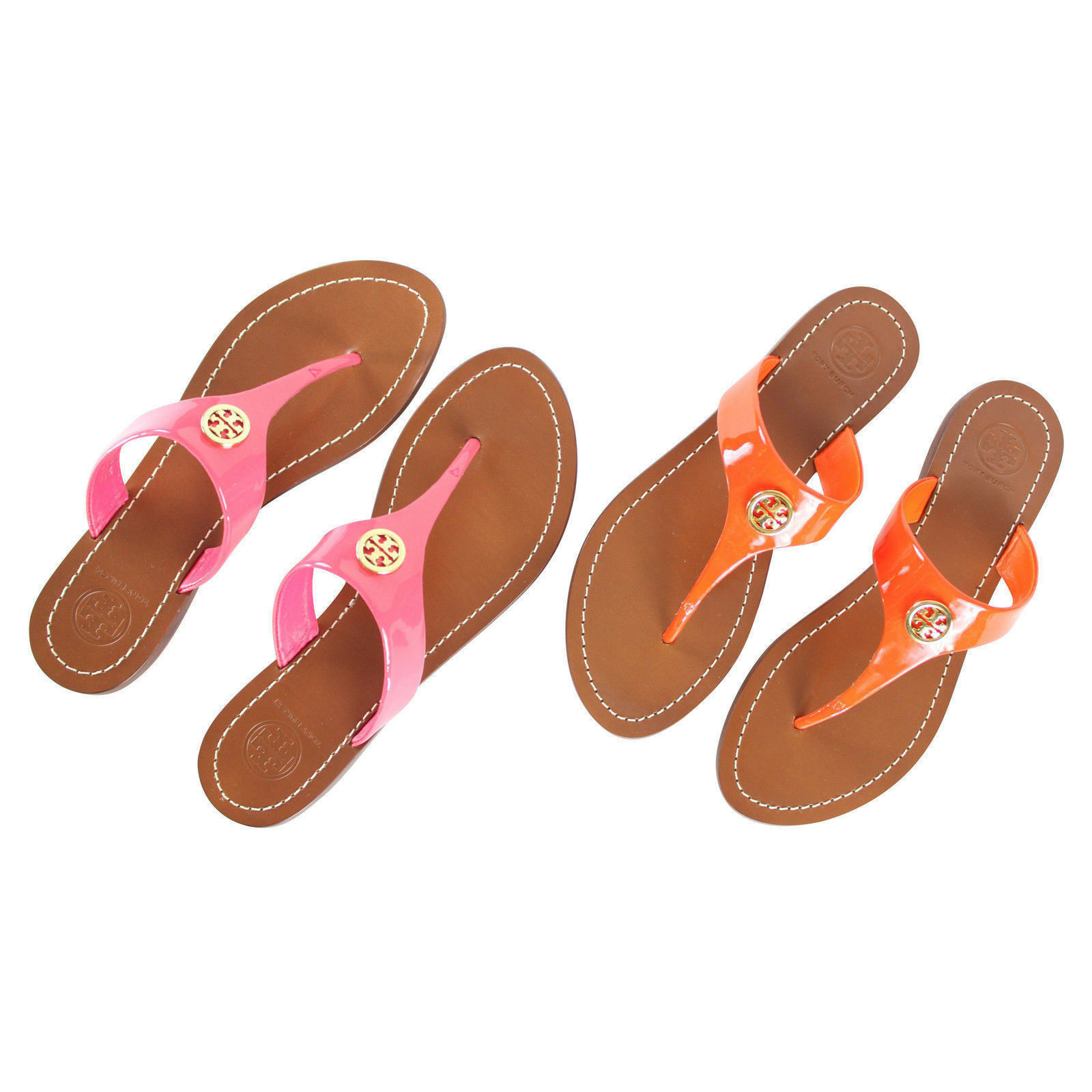 587cce559df67f Details about New Tory Burch CAMERON Patent Leather Thong Sandals Pick a  Color  185
