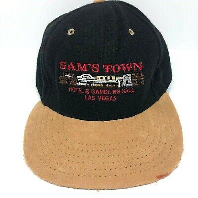 Vtg Las Vegas Hat Sams Town Casino Adjustable Cap Made in (Square Town Las Vegas)