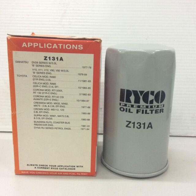 Z131A Ryco Oil Filter