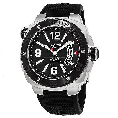Alpina Men's Extreme Diver Black Dial Black Rubber Strap Watch AL-525LBB5AEVZFB