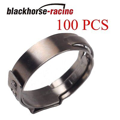 100x 34 Pex Clamp Cinch Rings Crimp Pinch Fittings 304 Stainless Steel