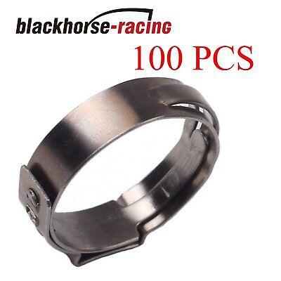 100x 34 Pex Clamp Cinch Rings Crimp Pinch Fittings 304 Stainless Steel