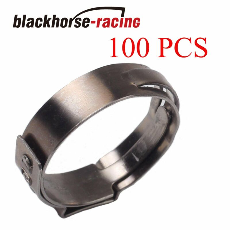 100X  3/4'' PEX Clamp Cinch Rings Crimp Pinch Fittings 304 Stainless Steel