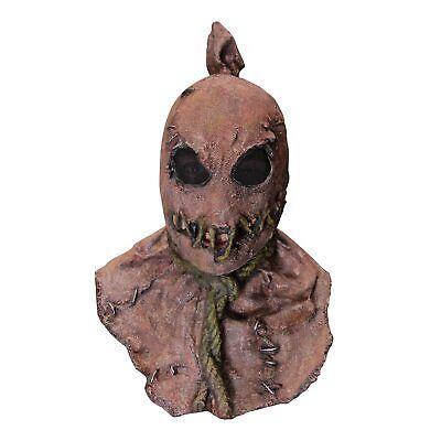 Horror Fields Creepy Killer Scarecrow Psycho Halloween Costume Mask Adults Teens](Halloween Psycho Mask)