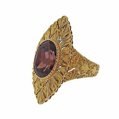 Buccellati 18k Yellow Gold Zircon Ring