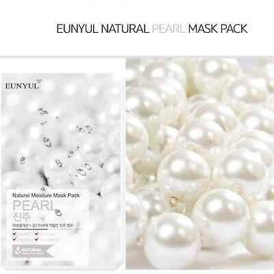 Korean Cosmetic Eunyul Facial Sheet Natural Moisture Mask Pack 22ml Pearl X10