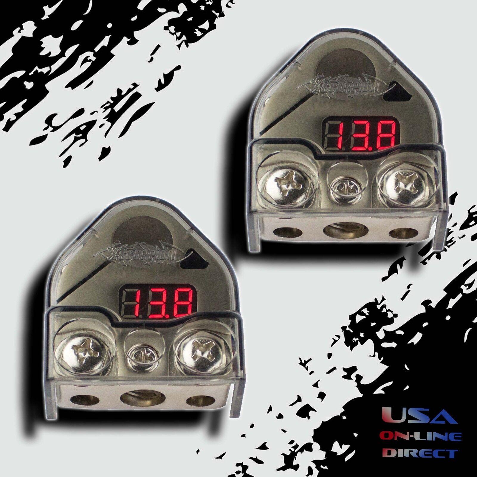 2x PLATINUM Digital Battery Terminal Car Audio Amp Install B