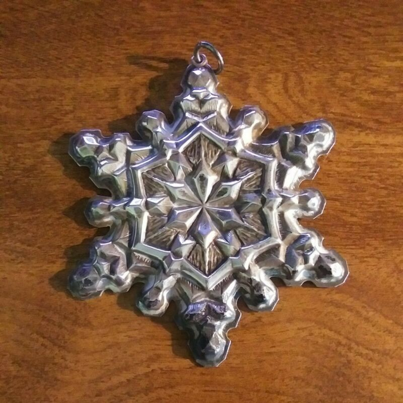 Gorham Sterling Silver Christmas 1971 Snowflake Ornament