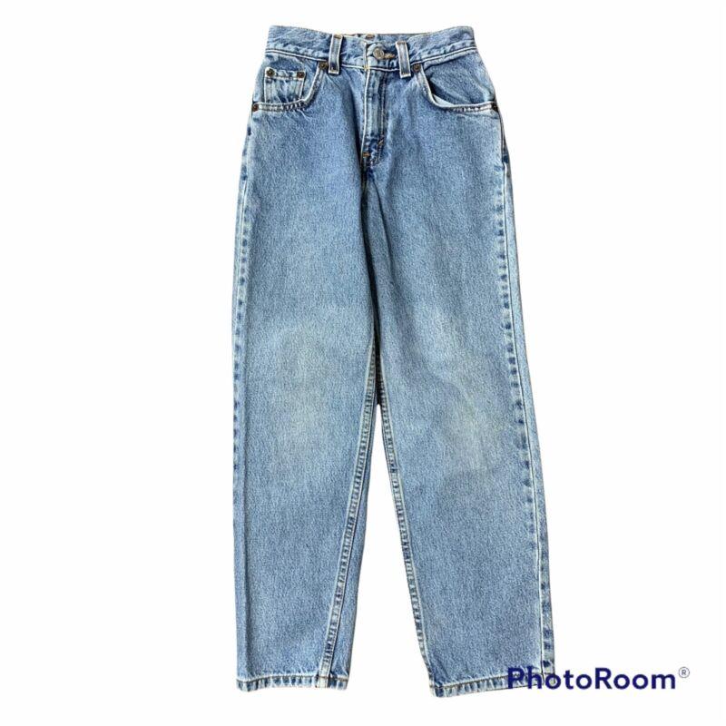Vintage Levis 350 Blue Jeans Regular Fit Tapered Leg Red Tab Denim Boys Size 10