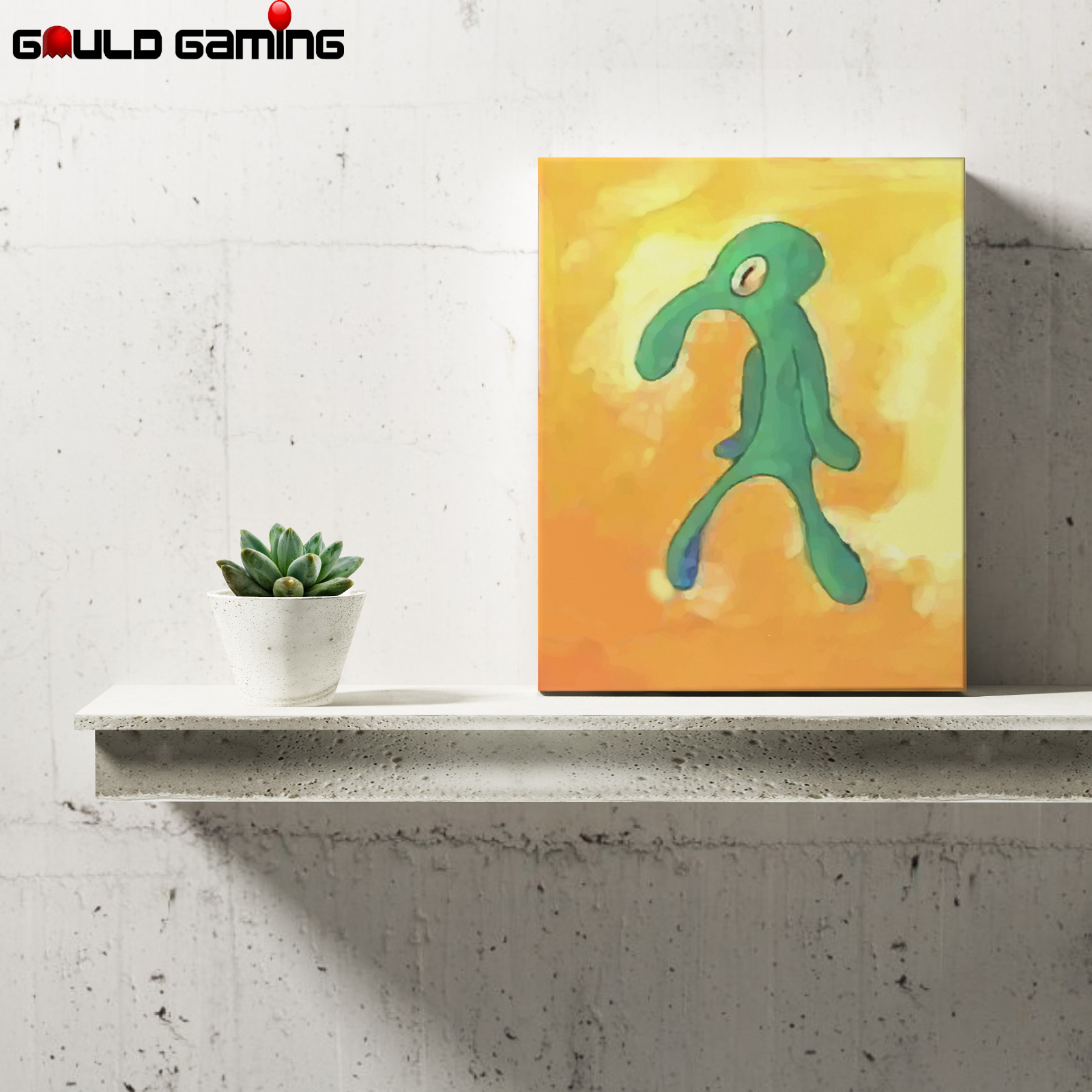 Bold and Brash Squidward Canvas Art Painting Wall Prints Decor Gifts Spongebob