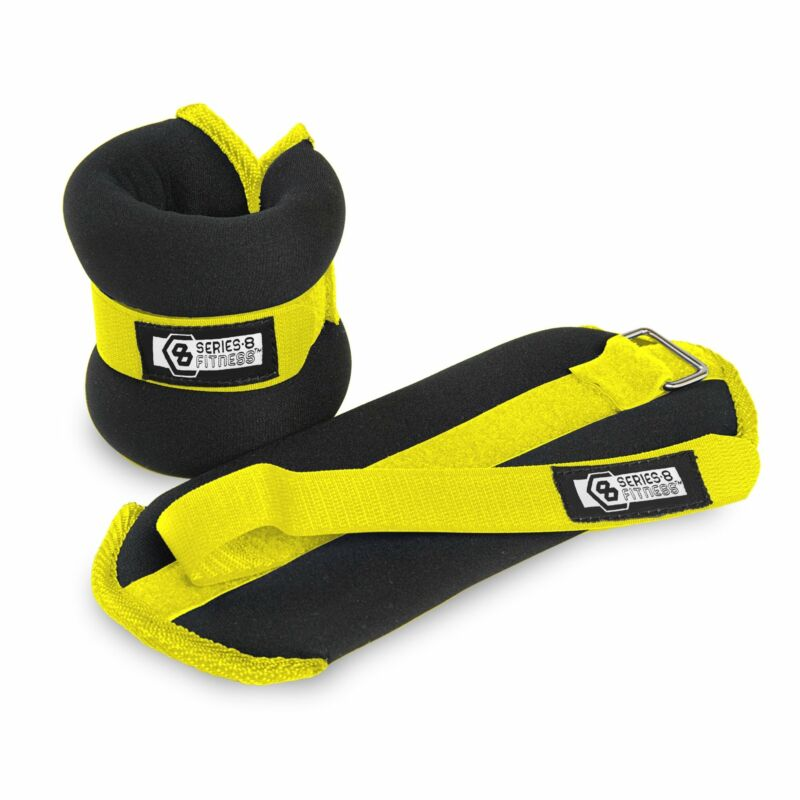 Pure Fitness 1 lb Adjustable Wrist Weights, Ankle Weights, Running, Exercise