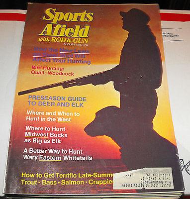 SPORTS AFIELD WITH ROD & GUN HUNTING & FISHING MAGAZINE AUG. 1976 BIRD HUNTING