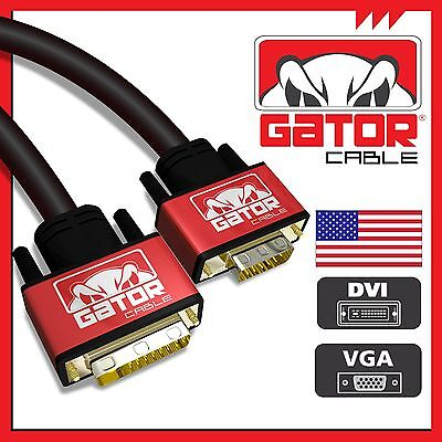 DVI-I (24+5) Dual Link Male to VGA Cable Cord Male Video Monitor Adapter PC (Dvi To Vga Adapter Cable)