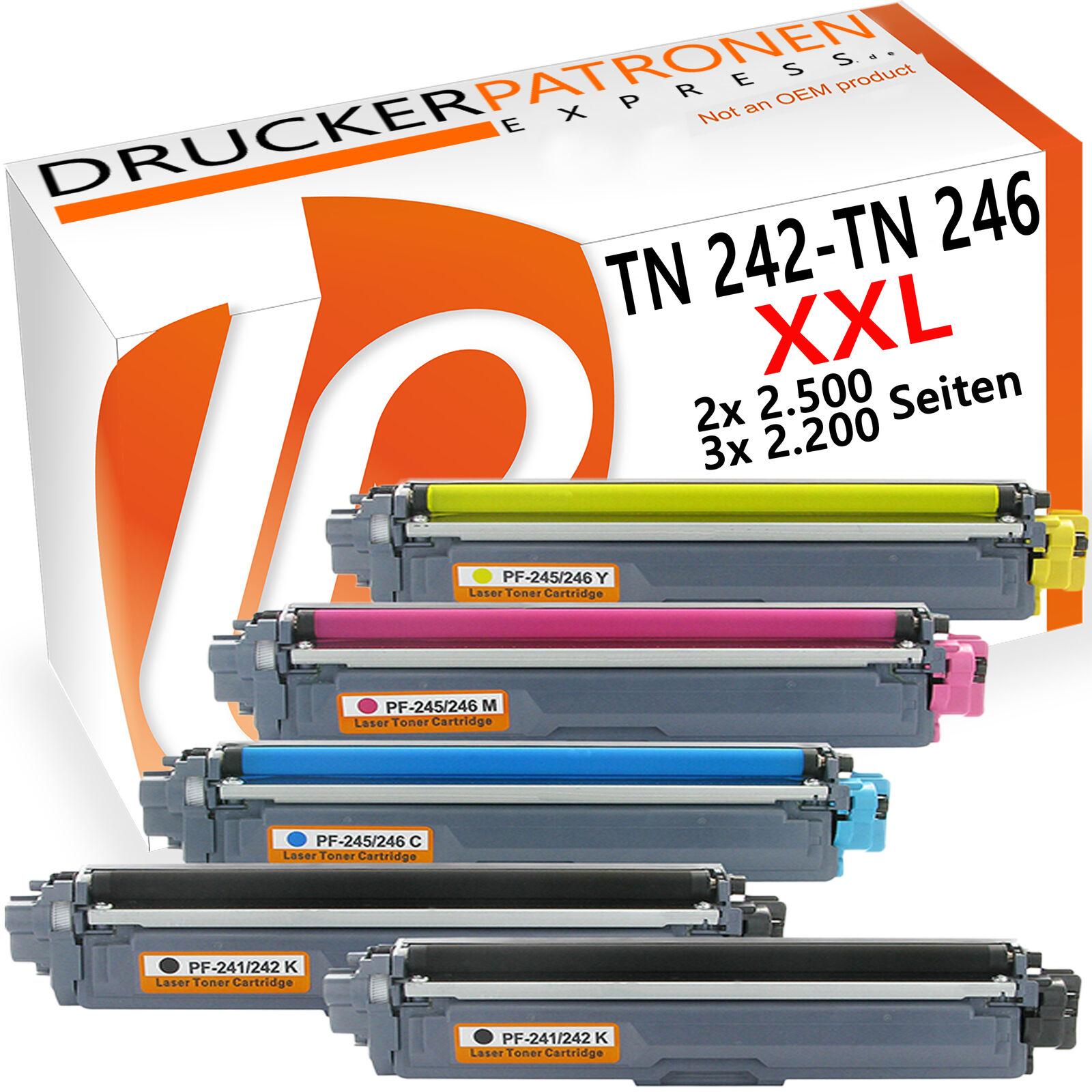 5 Toner für Brother TN-242 TN-246 DCP-9022CDW HL-3142CW HL3172CDW HL3152CDW Set