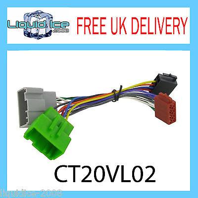 CT20VL02 S60 XC90 S40 S80 ISO Stereo Head Unit Harness Adaptor Wiring Loom Lead